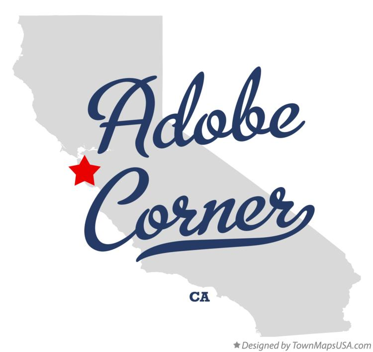 Map of Adobe Corner California CA
