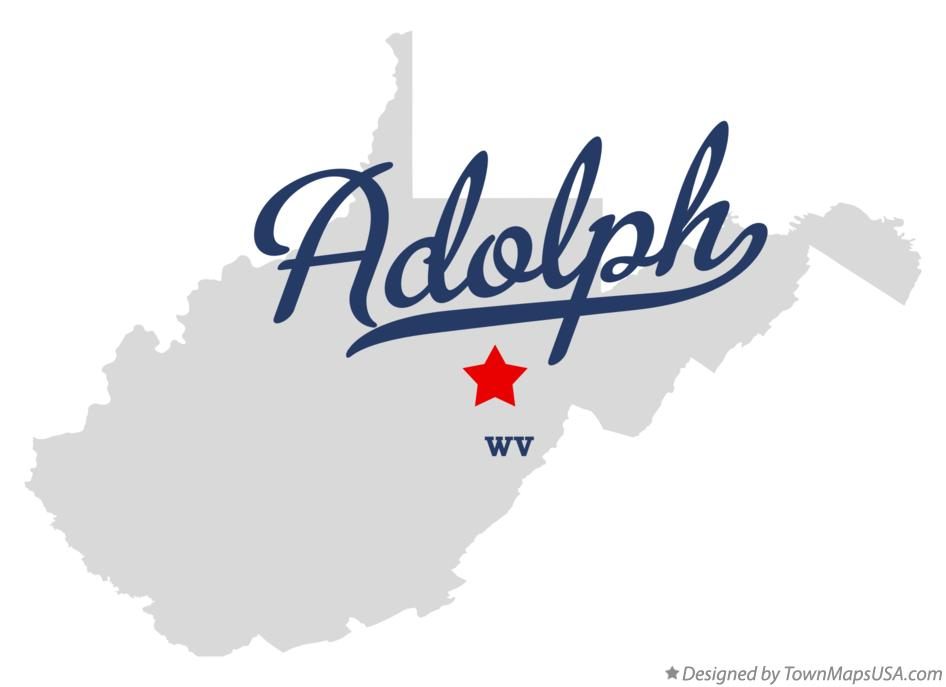 Map of Adolph West Virginia WV