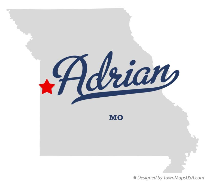 Map of Adrian Missouri MO