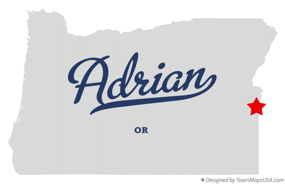Map of Adrian Oregon OR