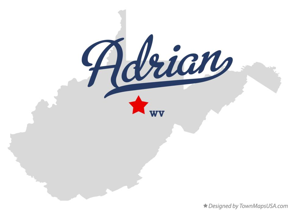 Map of Adrian West Virginia WV