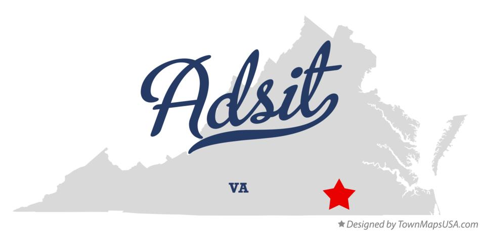 Map of Adsit Virginia VA