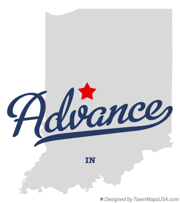 Map of Advance Indiana IN