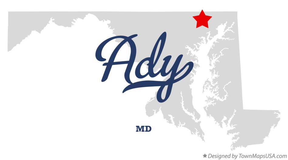 Map of Ady Maryland MD