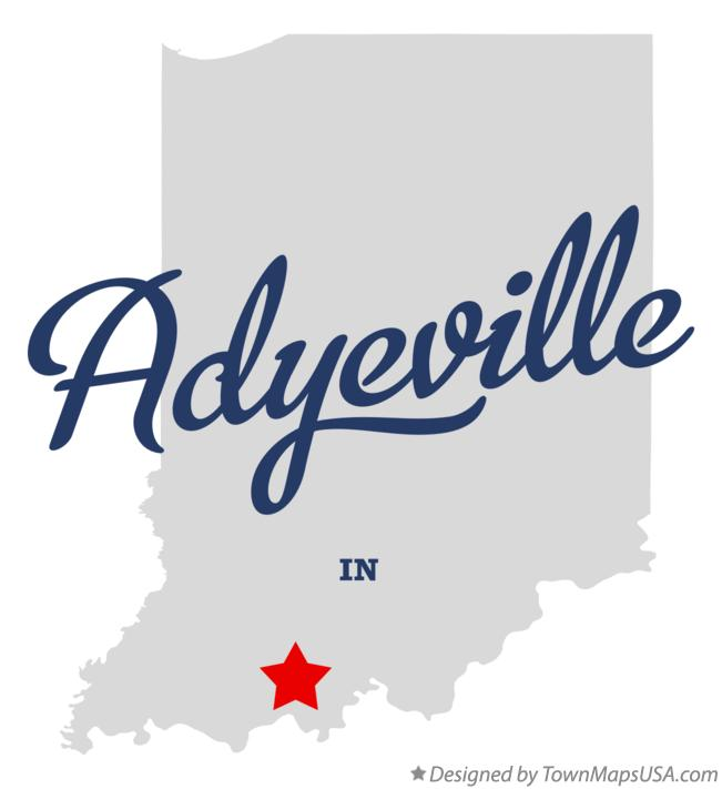 Map of Adyeville Indiana IN