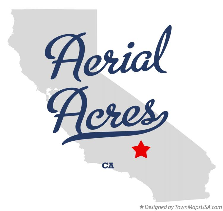 Map of Aerial Acres California CA