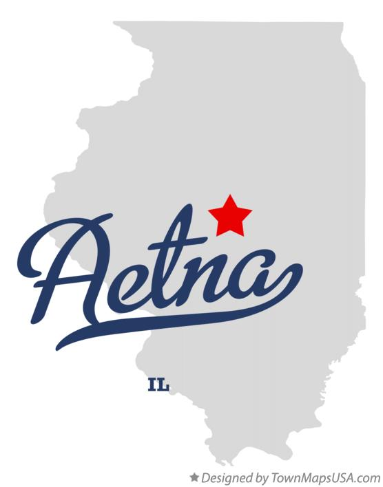 Map of Aetna Illinois IL