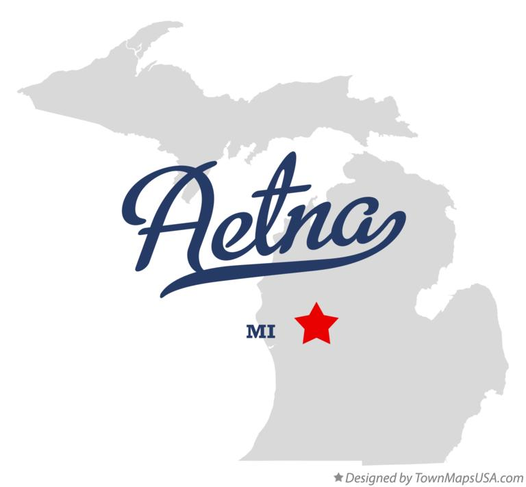 Map of Aetna Michigan MI