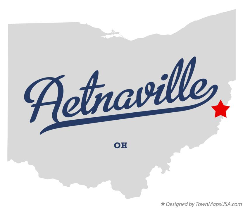 Map of Aetnaville Ohio OH