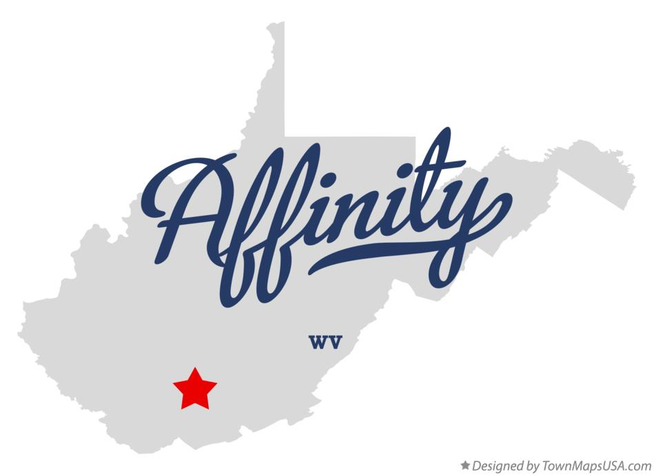 Map of Affinity West Virginia WV