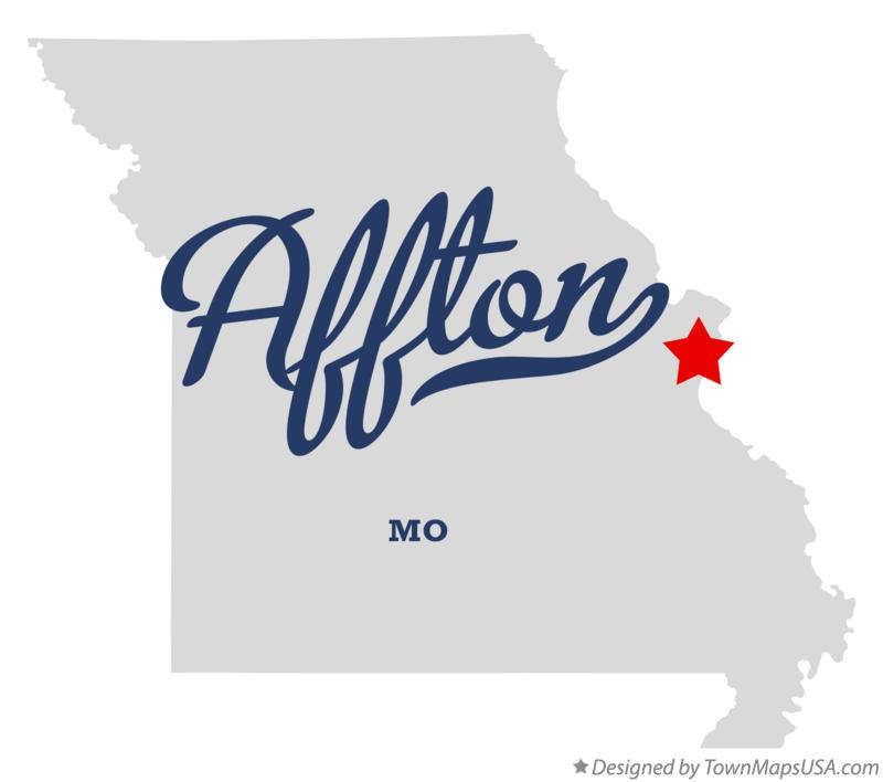 Map of Affton Missouri MO