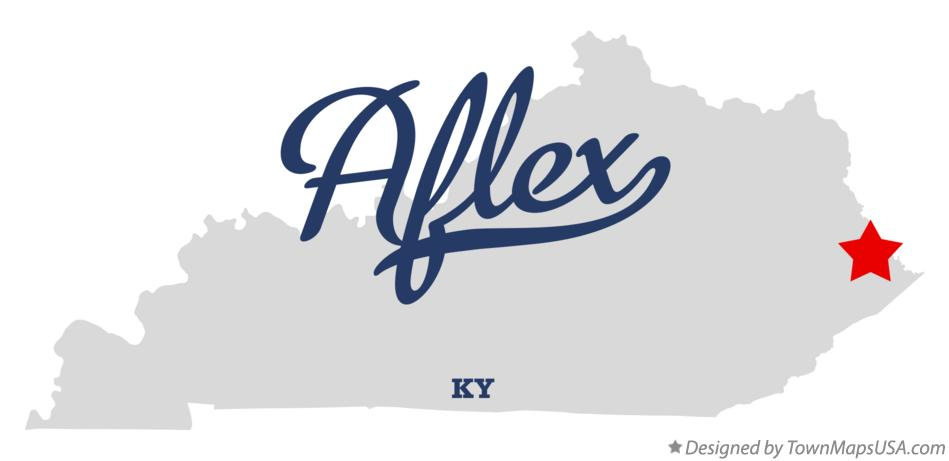 Map of Aflex Kentucky KY