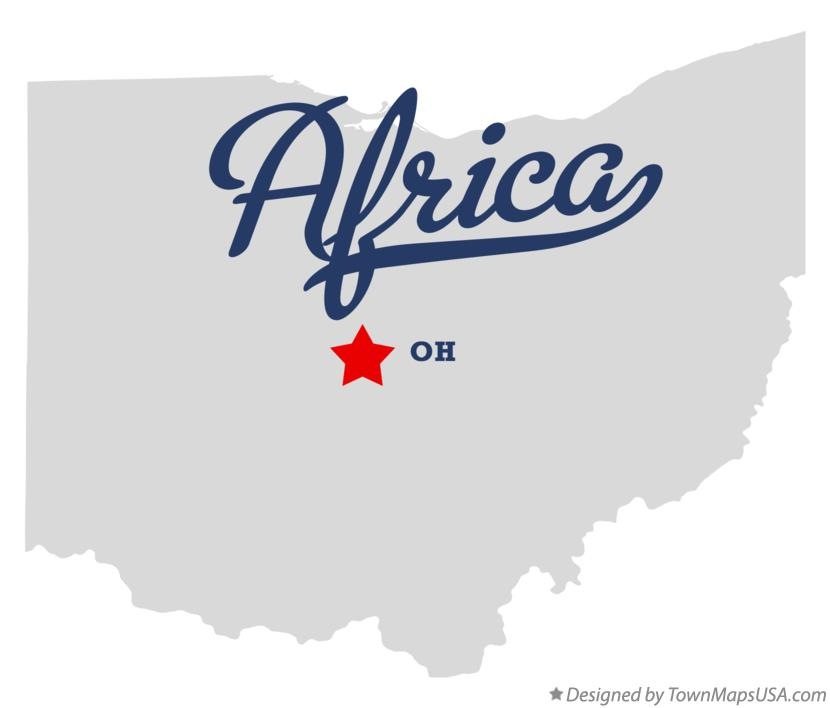 Map of Africa Ohio OH