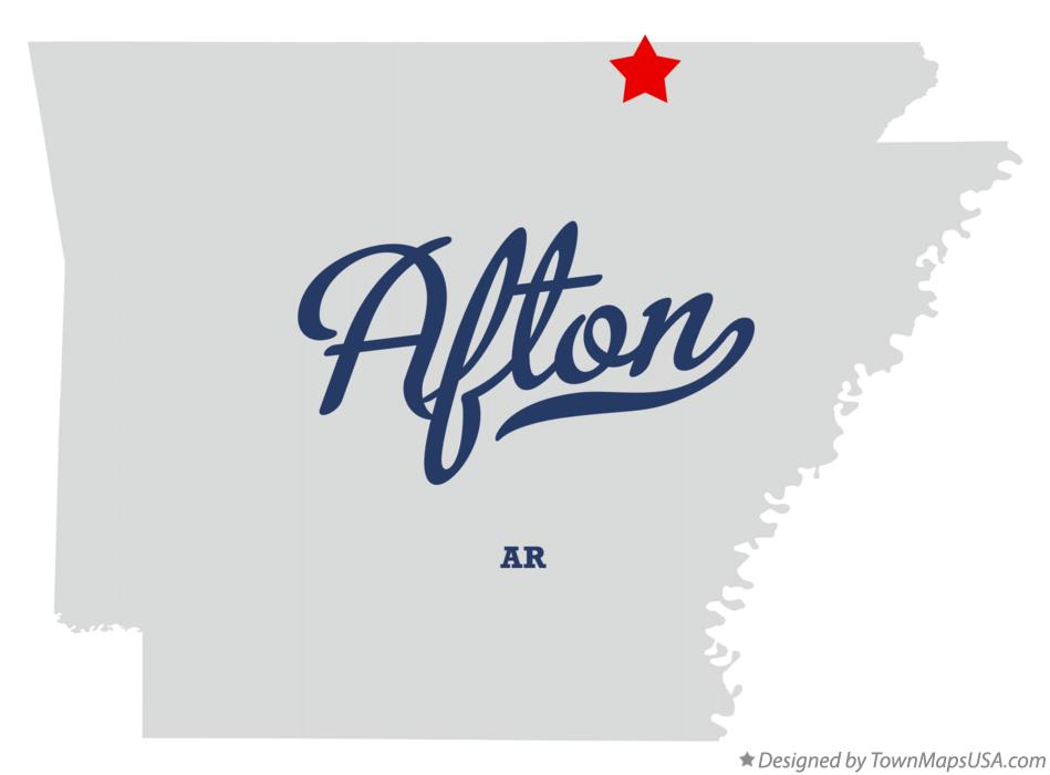 Map of Afton Arkansas AR