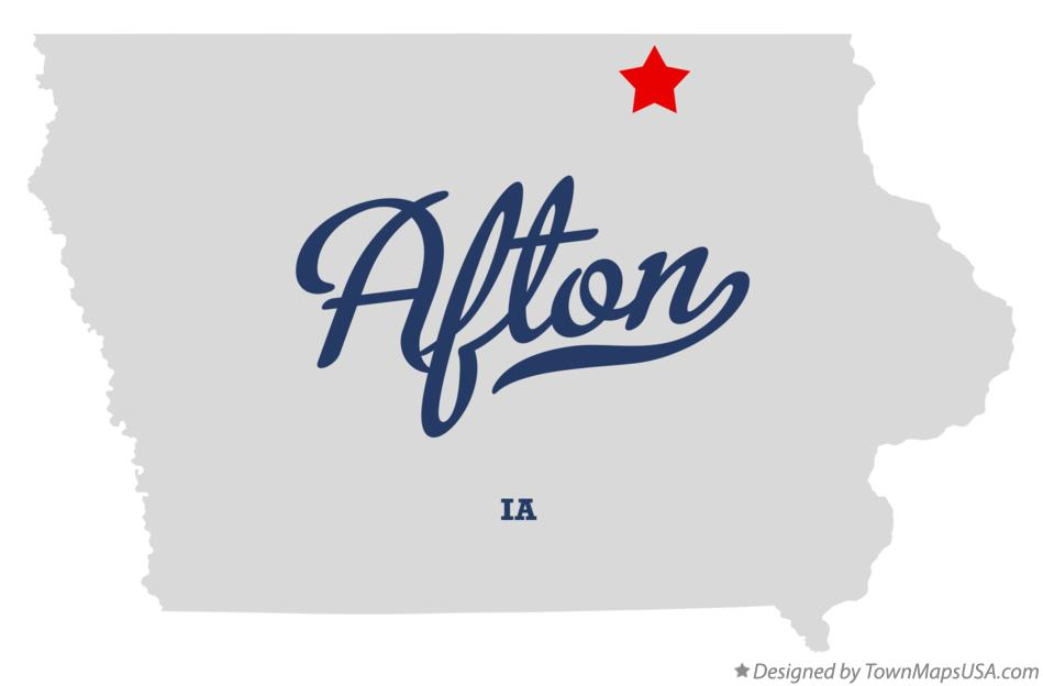 Map of Afton Iowa IA