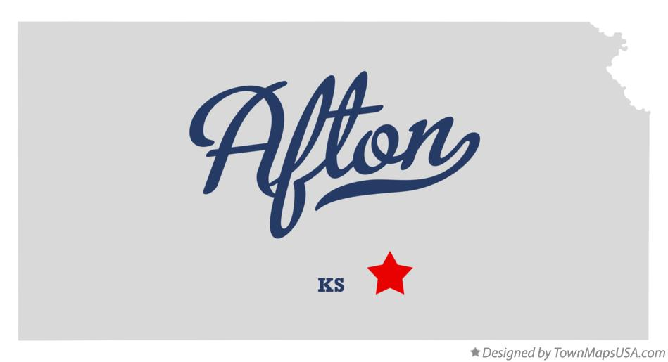 Map of Afton Kansas KS