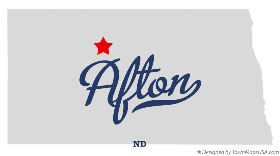 Map of Afton North Dakota ND