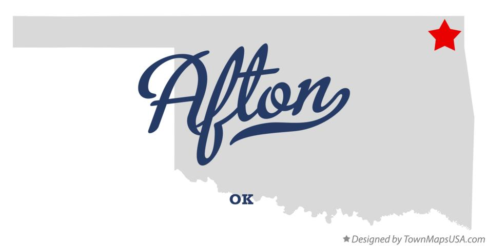 Map of Afton Oklahoma OK