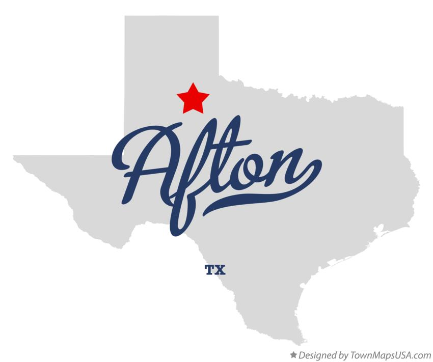 Map of Afton Texas TX