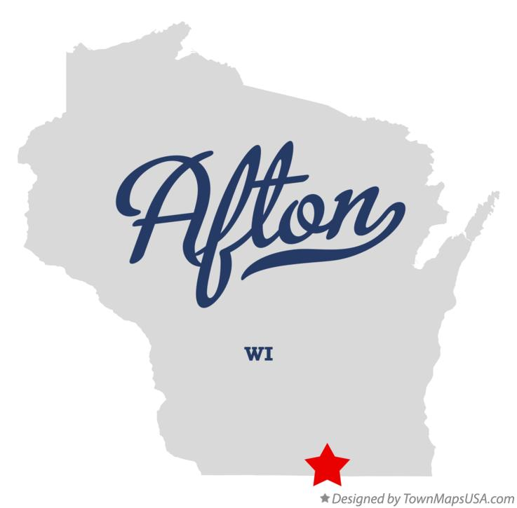 Map of Afton Wisconsin WI