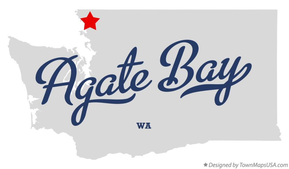 Map of Agate Bay Washington WA