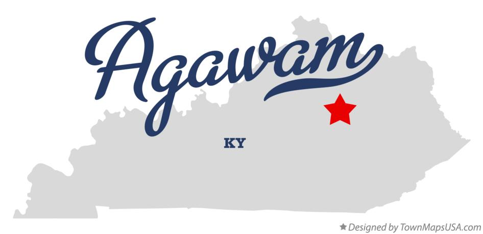 Map of Agawam Kentucky KY