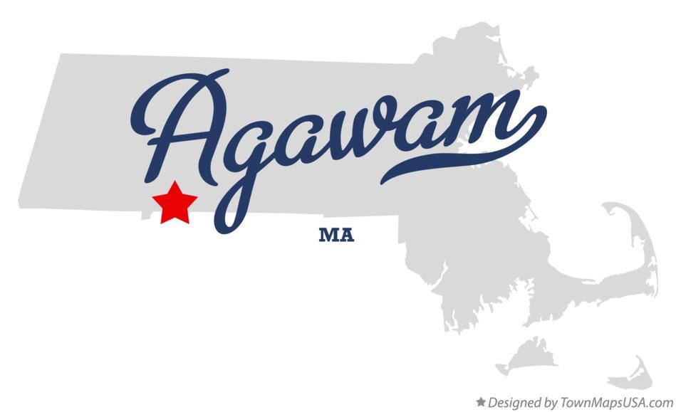 map of agawam ma massachusetts