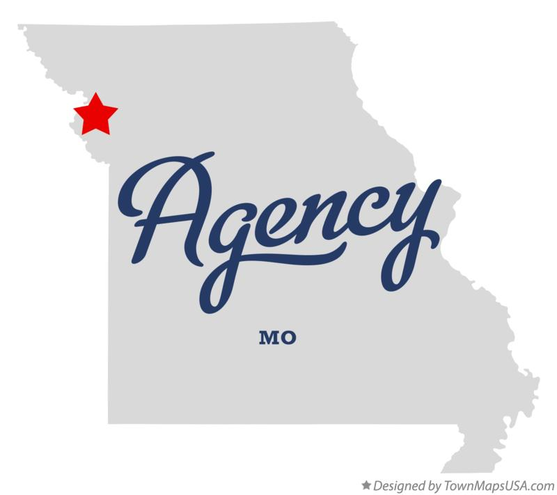Map of Agency Missouri MO