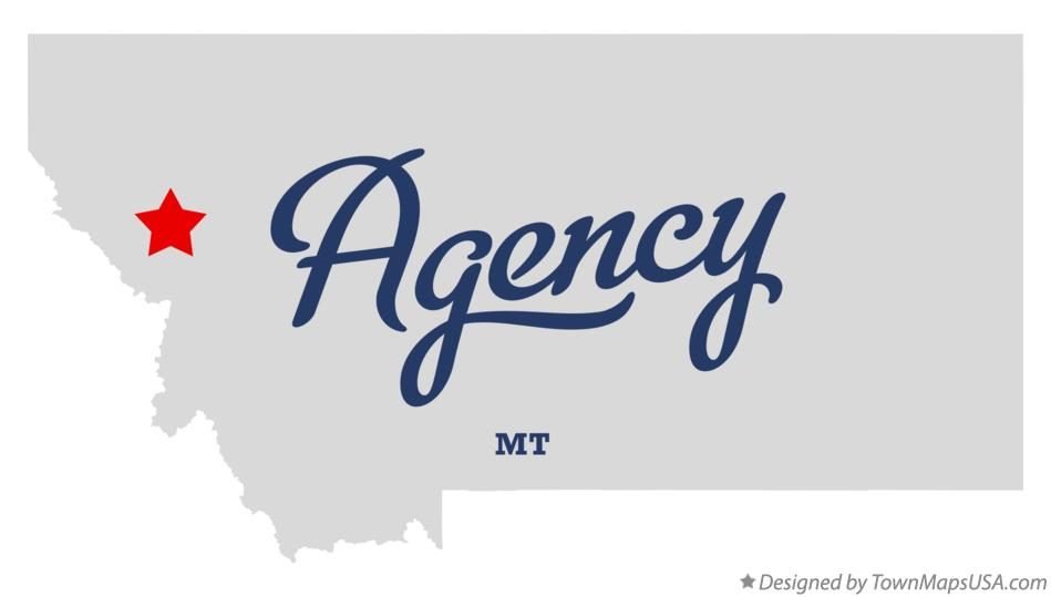 Map of Agency Montana MT