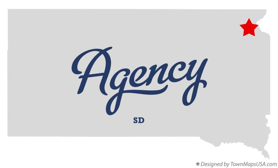 Map of Agency South Dakota SD