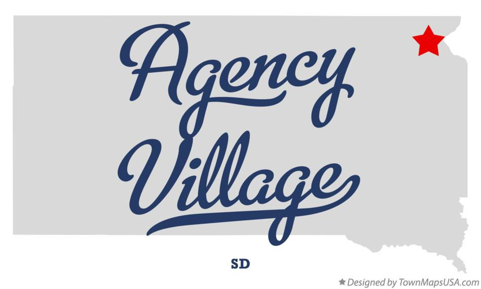 Map of Agency Village South Dakota SD