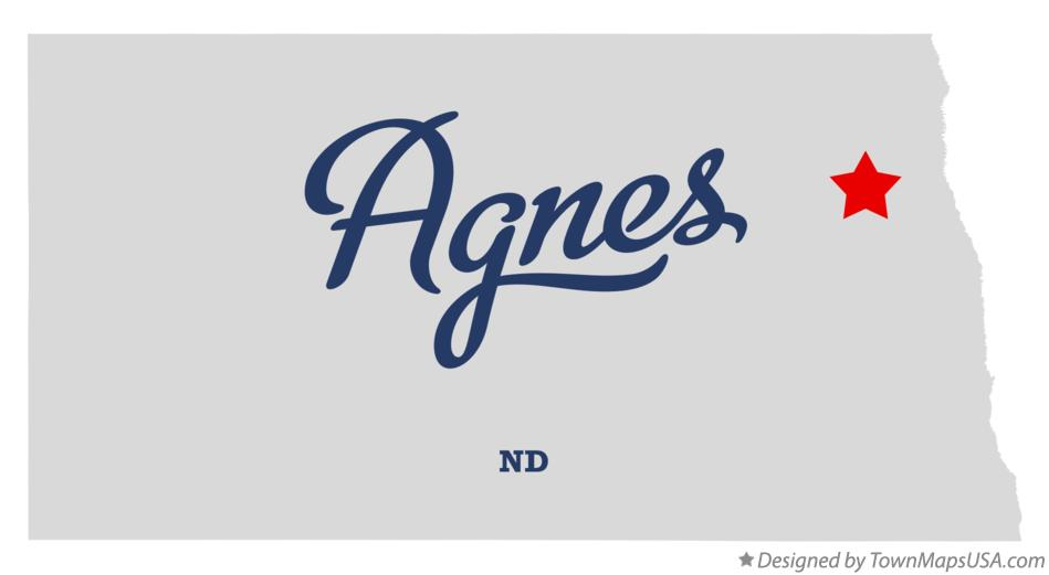 Map of Agnes North Dakota ND
