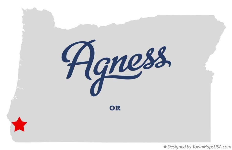 Map of Agness Oregon OR