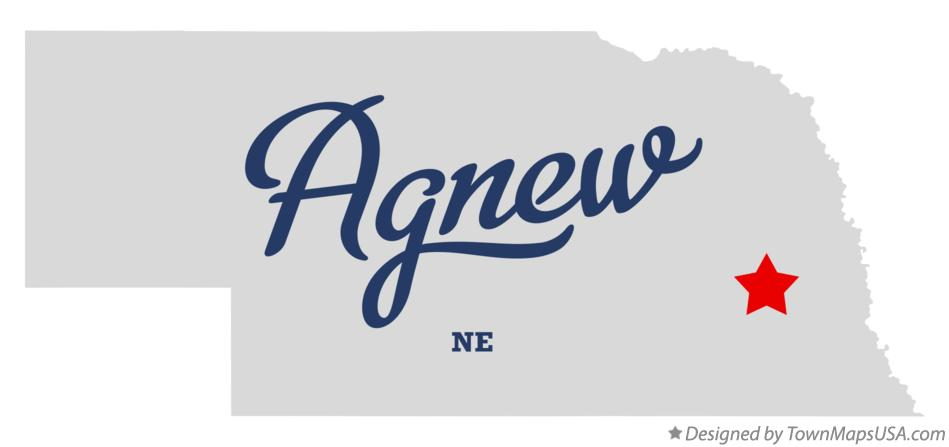 Map of Agnew Nebraska NE