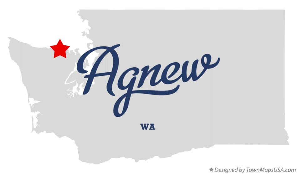 Map of Agnew Washington WA