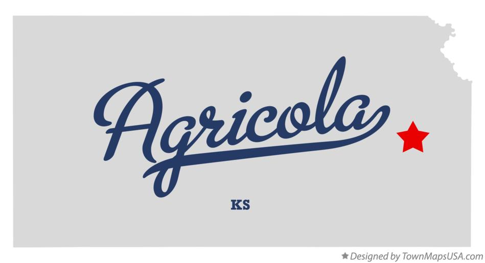 Map of Agricola Kansas KS