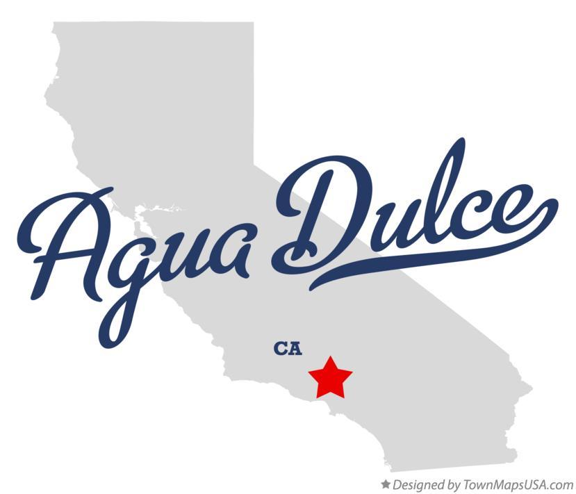 Agua Dulce California Map.Map Of Agua Dulce Ca California