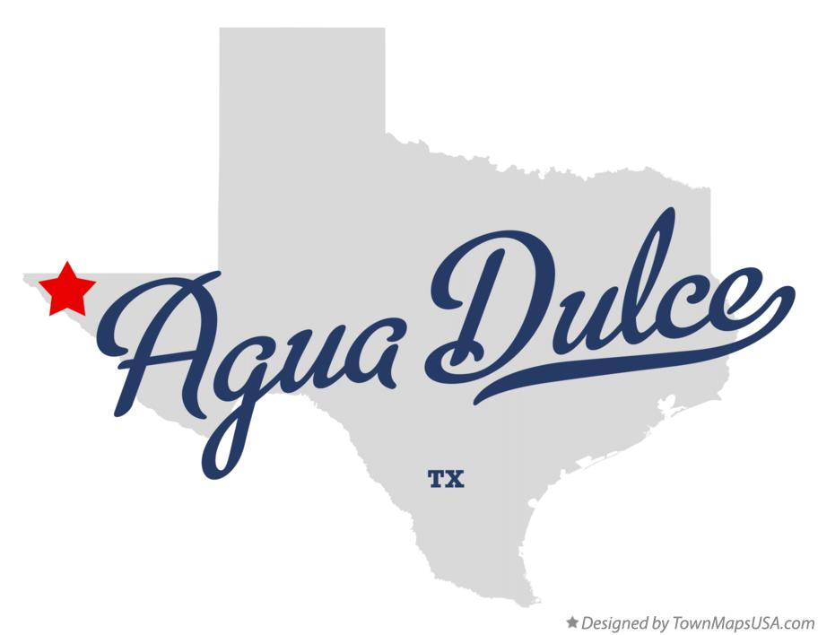 Map of Agua Dulce Texas TX
