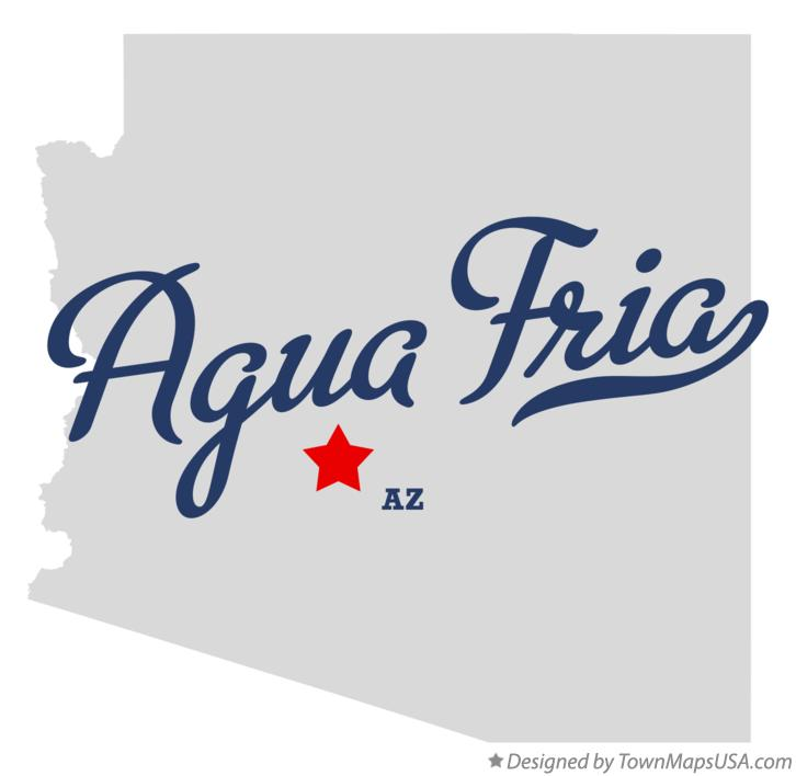 Map of Agua Fria Arizona AZ