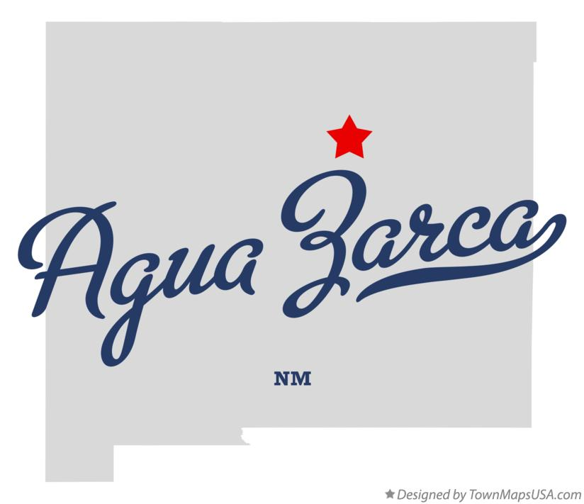 Map of Agua Zarca New Mexico NM