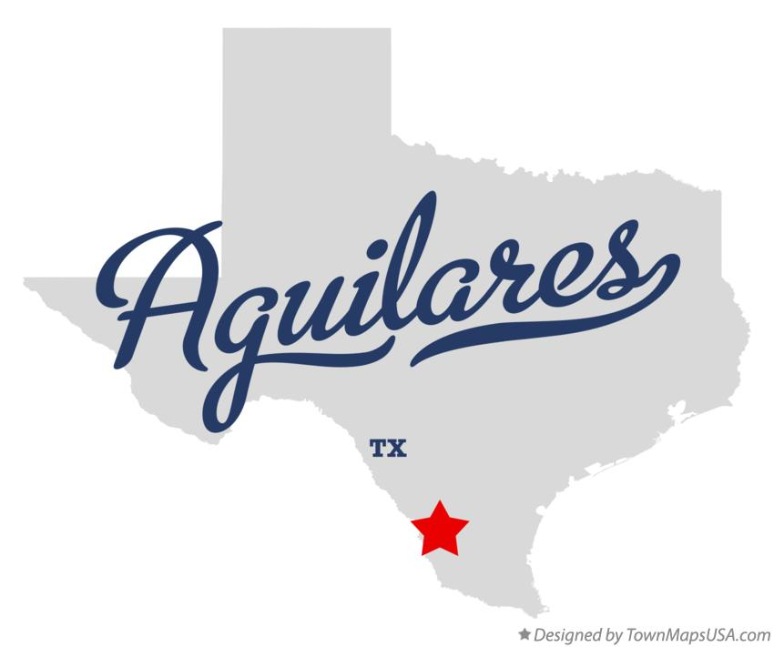Map of Aguilares Texas TX