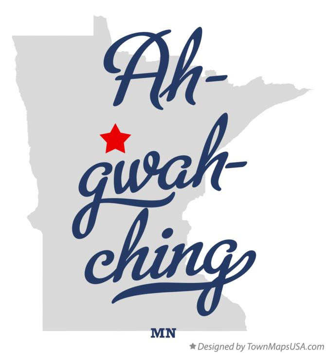 Map of Ah-gwah-ching Minnesota MN