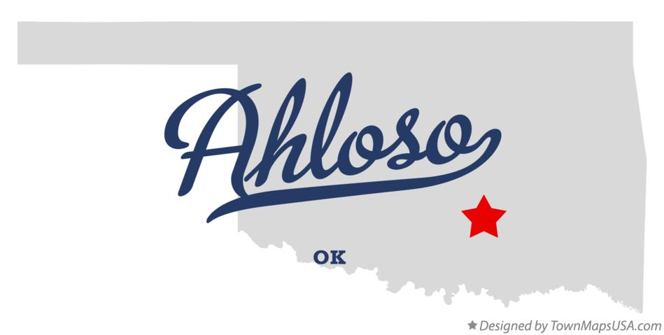 Map of Ahloso Oklahoma OK