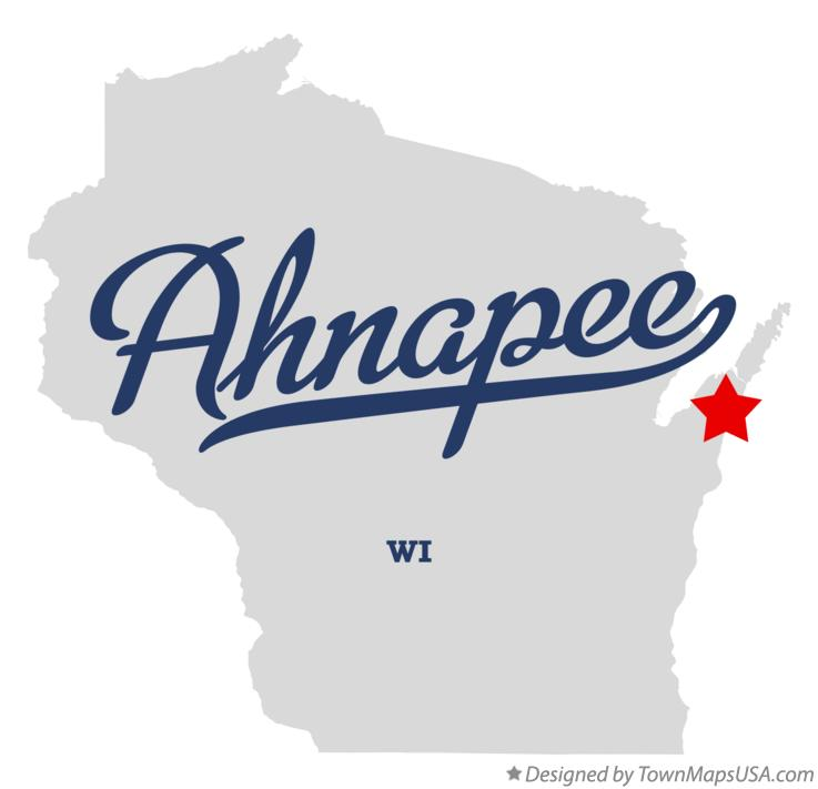 Map of Ahnapee Wisconsin WI