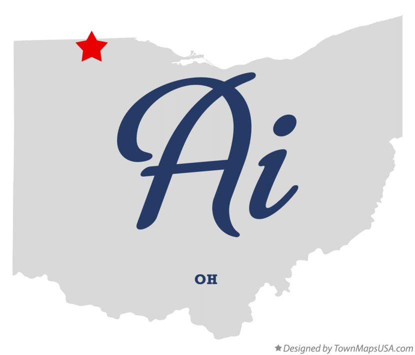 Map of Ai Ohio OH