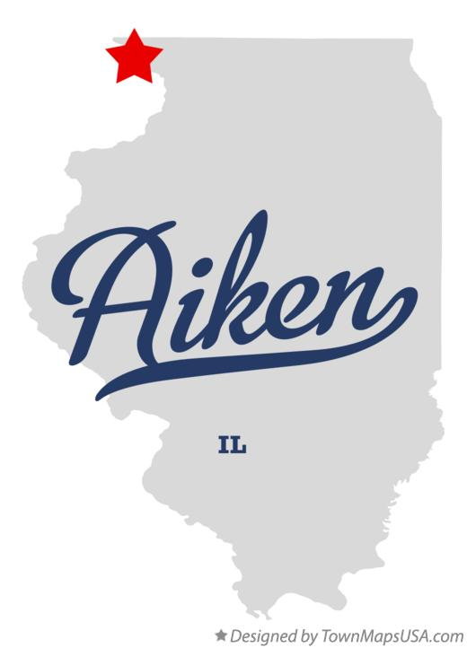 Map of Aiken Illinois IL