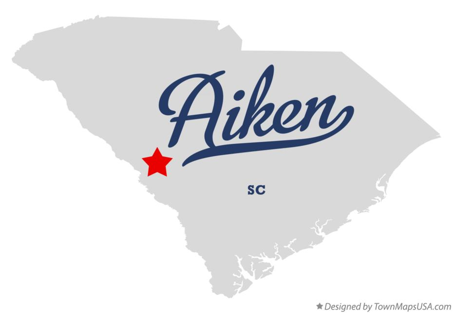Map of Aiken South Carolina SC