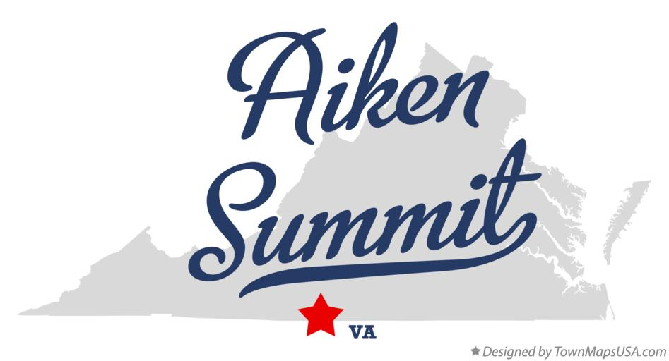Map of Aiken Summit Virginia VA