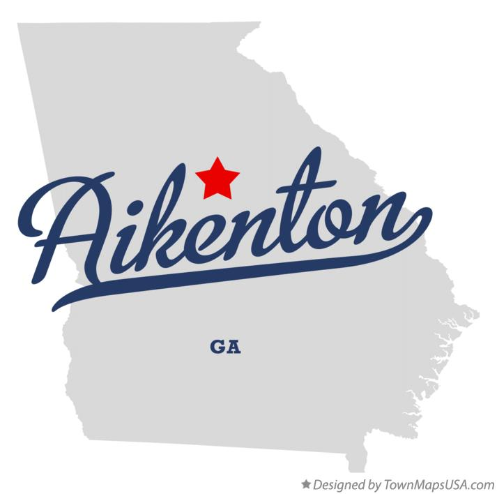Map of Aikenton Georgia GA