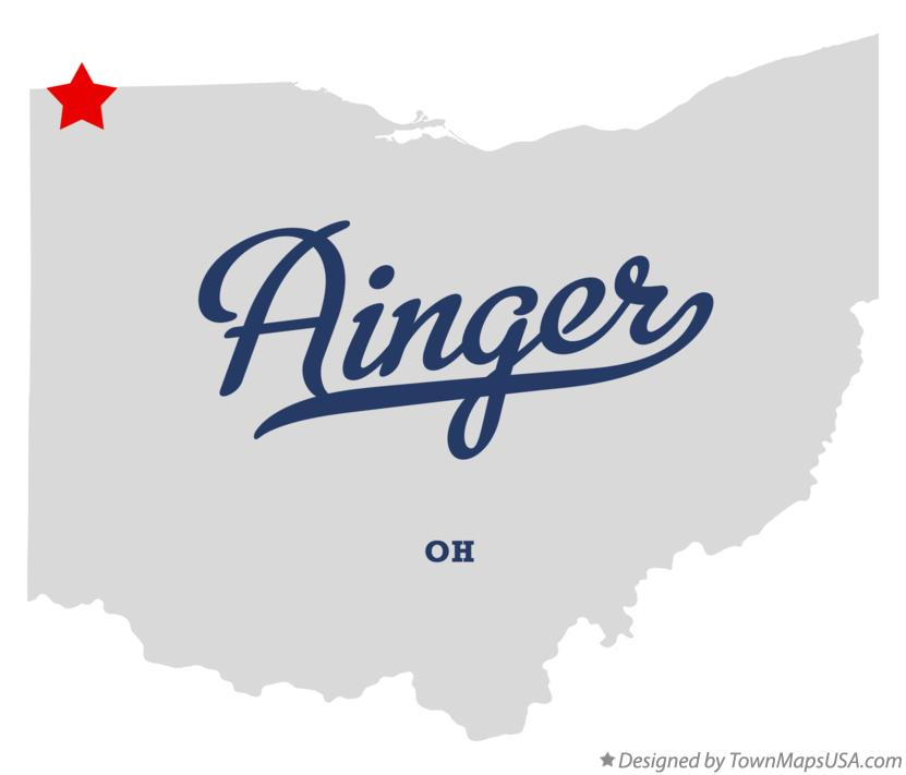 Map of Ainger Ohio OH